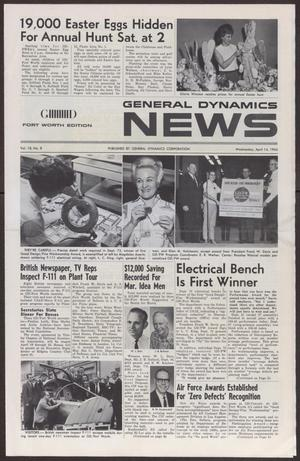 Primary view of object titled 'General Dynamics News, Volume 18, Number 8, Wednesday, April 14,1965'.