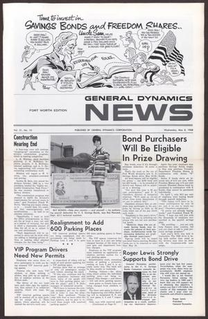 Primary view of object titled 'General Dynamics News, Volume 21, Number 10, Wednesday, May 8, 1968'.