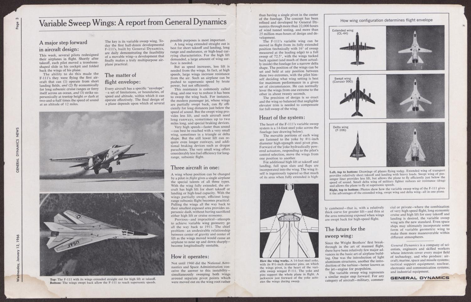 General Dynamics News, Wednesday, January 19, 1966 - The