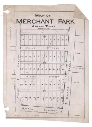 Primary view of object titled 'Map of Merchant Park, Abilene, Texas. [#1]'.