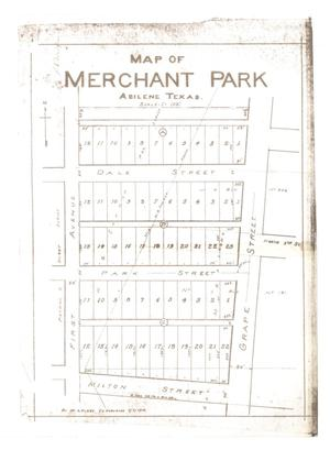 Primary view of object titled 'Map of Merchant Park, Abilene, Texas. [#2]'.