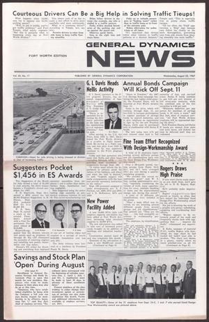 Primary view of object titled 'General Dynamics News, Volume 20, Number 17, Wednesday, August 23, 1967'.