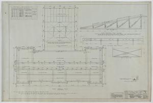 Primary view of object titled 'High School Building, McCamey, Texas: Roof Framing Plan'.