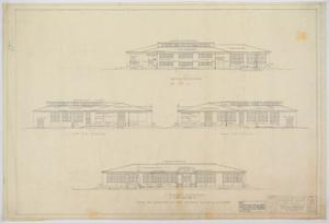 Primary view of object titled 'School Building, Nolan County, Texas: Elevations'.
