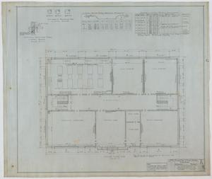 Primary view of object titled 'High School Building, Merkel, Texas: Second Floor Plan'.