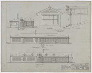 Primary view of object titled 'High School Building, McCamey, Texas: Elevations'.