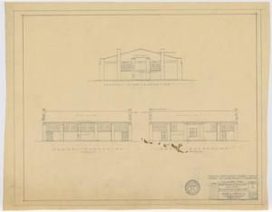 Primary view of object titled 'School Auditorium/Gymnasium, Loraine, Texas: Elevations'.