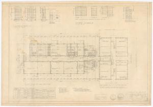 Primary view of object titled 'High School Building Alterations, Munday, Texas: First Floor Plan'.