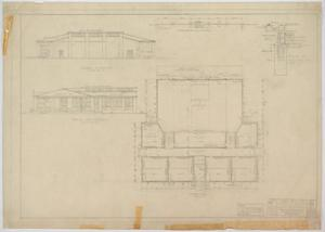 Primary view of object titled 'School Building, Nolan County, Texas: Floor Plan'.