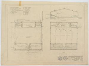 Primary view of object titled 'School Auditorium/Gymnasium, Loraine, Texas: Mechanical Floor Plans'.