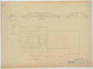 Primary view of object titled 'School Building Addition, Mentone, Texas: Roof Framing Plan'.