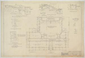 Primary view of object titled 'School Building, Nolan County, Texas: Foundation Plan'.