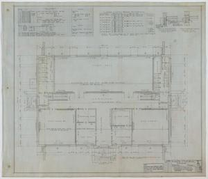 Primary view of object titled 'High School Building, Merkel, Texas: First Floor Plan'.