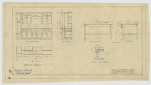 Primary view of object titled 'High School Building Addition, Merkel, Texas: Cabinet and Table Details'.
