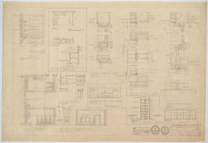 Primary view of object titled 'High School Building Alterations, Munday, Texas: Miscellaneous Details'.