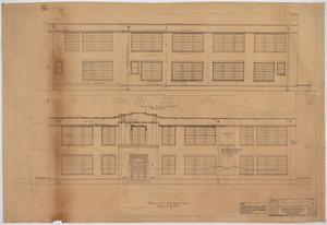 Primary view of object titled 'High School Building Addition, Merkel, Texas: Elevations'.