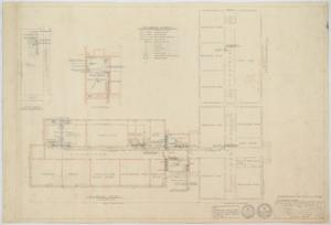 Primary view of object titled 'High School Building Alterations, Munday, Texas: Floor Plan'.