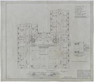 Primary view of object titled 'School Building, Lueders, Texas: Main Floor Mechanical Plan'.