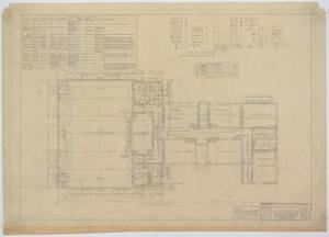 Primary view of object titled 'School Building Addition, Mentone, Texas: Floor Plan and Schedules'.