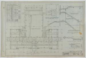 Primary view of object titled 'High School Building, McCamey, Texas: First Floor Framing Plan'.