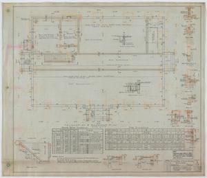 Primary view of object titled 'High School Building, Merkel, Texas: Foundation and Basement Plan'.