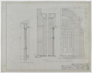 Primary view of object titled 'High School Building, McCamey, Texas: Front Entrance Details'.