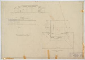 Primary view of object titled 'School Building, Nolan County, Texas: Roof Plan'.