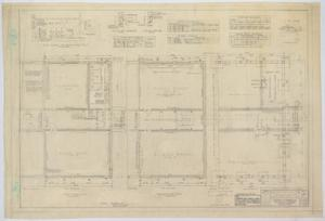 Primary view of object titled 'High School Building Addition, Merkel, Texas: Floor Plans and Schedules'.