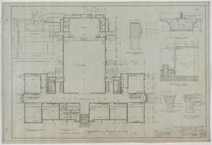 Primary view of object titled 'High School Building, McCamey, Texas: First Floor Plan'.