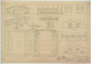Primary view of object titled 'High School Gymnasium, Noodle, Texas: Elevations, Sections, and Floor Plan'.