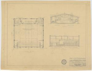 Primary view of object titled 'School Auditorium/Gymnasium, Loraine, Texas: Floor Plan and Sections'.