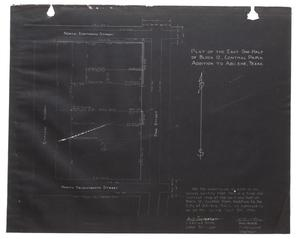Primary view of object titled 'Plat of East One-Half of Block 12, Central Park Addition to Abilene, Texas.'.