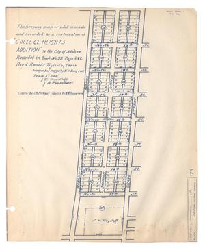 "Primary view of object titled 'The foregoing map or plot is made and recorded as a continuation of ""College Heights Addition"" to the City of Abilene'."