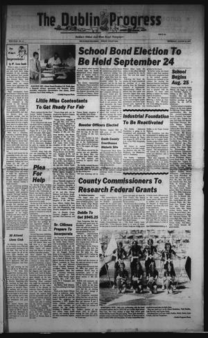 Primary view of The Dublin Progress (Dublin, Tex.), Vol. 90, No. 12, Ed. 1 Thursday, August 25, 1977