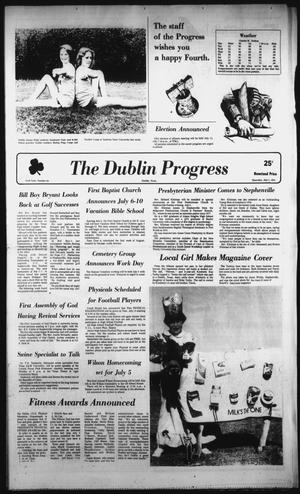 Primary view of object titled 'The Dublin Progress (Dublin, Tex.), Vol. 93, No. 48, Ed. 1 Thursday, July 2, 1981'.