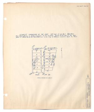 [Map of] R. Q. West's Subdivision of the East 187 feet of Lot Number 1, Block Number 1, Fair Park Acres, a Subdivision of a part of the H. Ward Survey Number 90 and of the West part of Block Number 4, Fair Park Addition to the City of Abilene, situated in Taylor County, Texas.