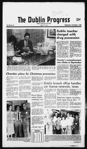 Primary view of object titled 'The Dublin Progress (Dublin, Tex.), Vol. 99, No. 24, Ed. 1 Wednesday, November 5, 1986'.