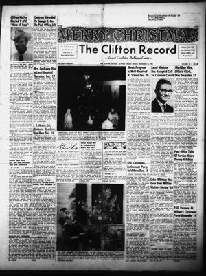 Primary view of object titled 'The Clifton Record (Clifton, Tex.), Vol. 70, No. 48, Ed. 1 Friday, December 25, 1964'.