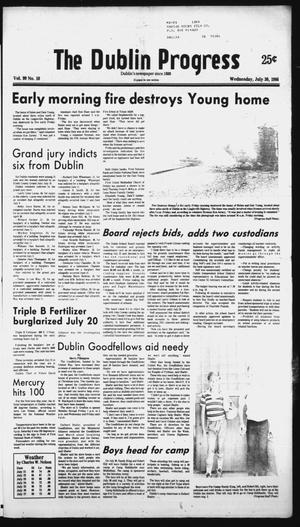 Primary view of object titled 'The Dublin Progress (Dublin, Tex.), Vol. 99, No. 10, Ed. 1 Wednesday, July 30, 1986'.