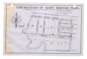 Primary view of object titled 'Continuation of Scott Highway Place, a Subdivision of Block 19 of the Harris Addition to the Town of Abilene, Texas {#2]'.