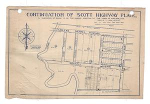 Primary view of object titled 'Continuation of Scott Highway Place, a Subdivision of Block 19 of the Harris Addition to the Town of Abilene, Texas {#4]'.