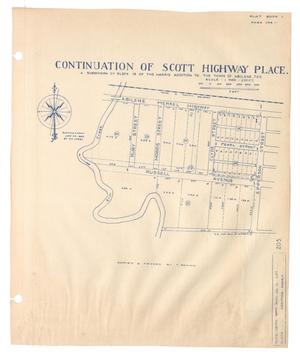 Continuation of Scott Highway Place, a Subdivision of Block 19 of the Harris Addition to the Town of Abilene, Texas {#5]