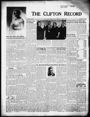 Primary view of object titled 'The Clifton Record (Clifton, Tex.), Vol. 60, No. 49, Ed. 1 Friday, January 7, 1955'.