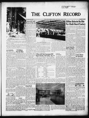 Primary view of object titled 'The Clifton Record (Clifton, Tex.), Vol. 61, No. 28, Ed. 1 Friday, August 12, 1955'.