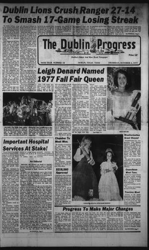 Primary view of The Dublin Progress (Dublin, Tex.), Vol. 90, No. 18, Ed. 1 Thursday, October 6, 1977