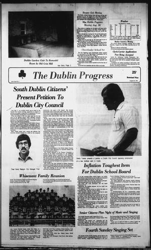 Primary view of object titled 'The Dublin Progress (Dublin, Tex.), Vol. 94, No. 3, Ed. 1 Thursday, August 20, 1981'.