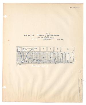 Primary view of object titled 'Map of Extension of Lakeside Addition to the City of Abilene, Texas'.