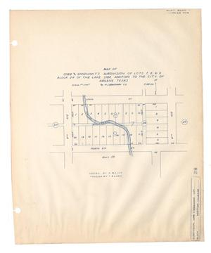 Map of Cobb and Goodnight's Subdivision of Lots 7, 8, & 9, Block 24 of the Lake Side Addition to the City of Abilene, Texas