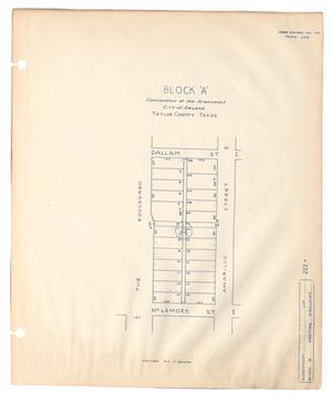"Primary view of object titled 'Block ""A"" Continuation of the Highlands City of Abilene, Taylor County, Texas'."