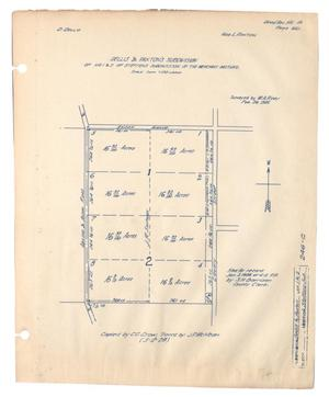 Primary view of object titled 'Dellis & Paxton's Subdivision of No. 1 & 2 of Steffens Subdivision of the Merchant Pasture.'.